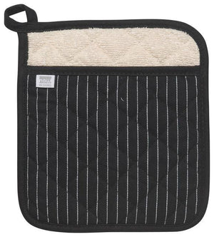 Now Designs Pot Holder - Black Pinstripe