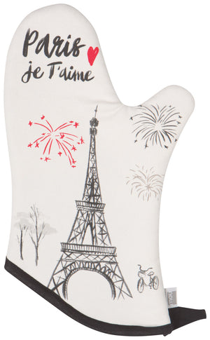 Now Designs Oven Mitt Paris Je T'Aime