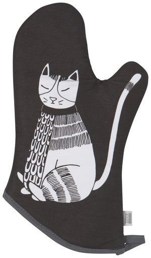 Now Designs Oven Mitt Purr Party