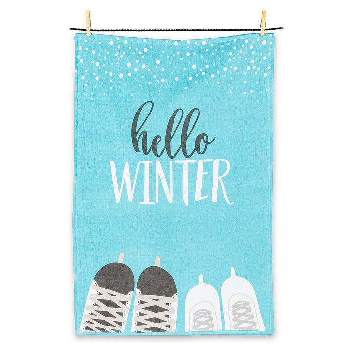 Abbott Terry Tea Towel Hello Winter
