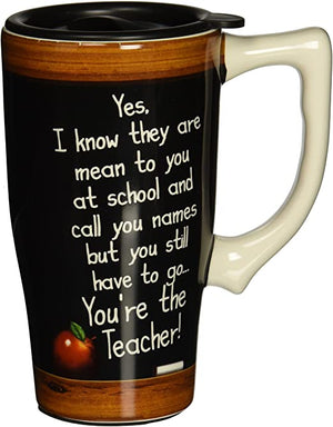 "Spoontiques Travel Mug ""You're The Teacher"""