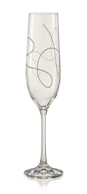 Bohemia Clear String Champagne Flute