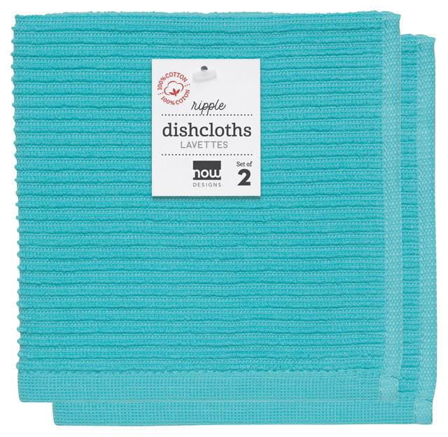 Now Designs Ripple Dishcloth Set/2 - Bali Blue