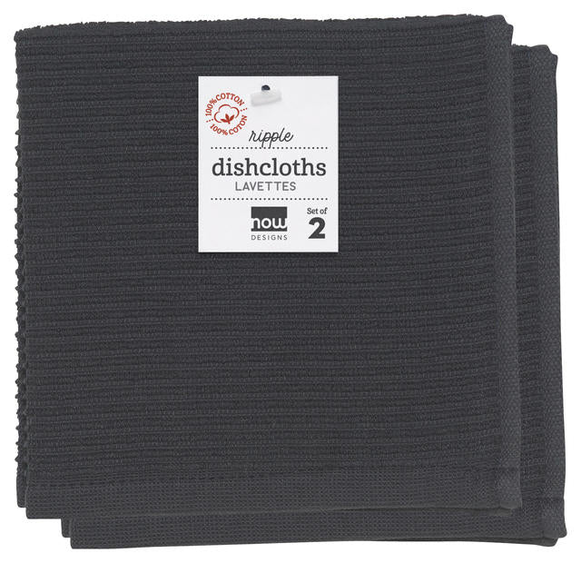 Now Designs Ripple Dishcloth Set/2 - Black