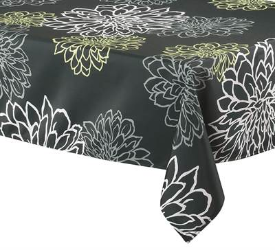 "Texstyles Deco Tablecloth 58"" x 78"" - Contempo Black"