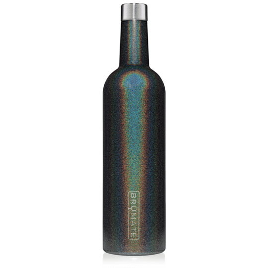 BrüMate Winesulator Wine Canteen 25oz - Glitter Charcoal