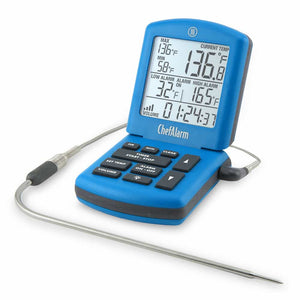 ThermoWorks ChefAlarm® Cooking Alarm Thermometer & Timer (Blue)