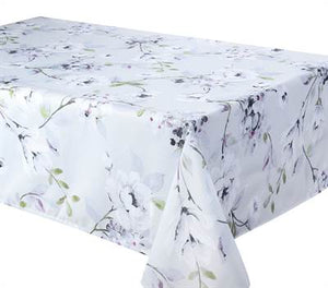 "Texstyles Deco Tablecloth 70"" Round - Dahlia Dove"