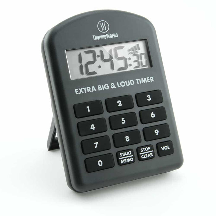 ThermoWorks Extra Big & Loud Timer - Charcoal