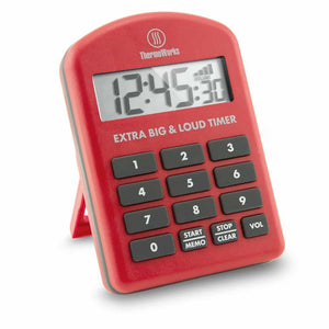 ThermoWorks Extra Big & Loud Timer - Red