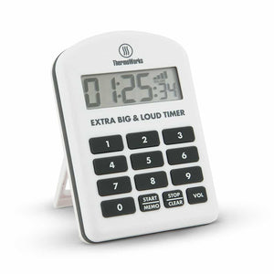 ThermoWorks Extra Big & Loud Timer - White