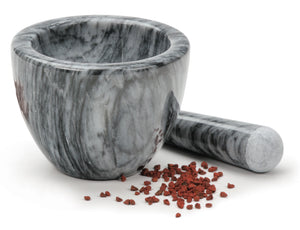 Endurance® Grey Marble Mortar & Pestle