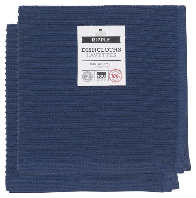 Now Designs Ripple Dishcloth Set/2 - Indigo