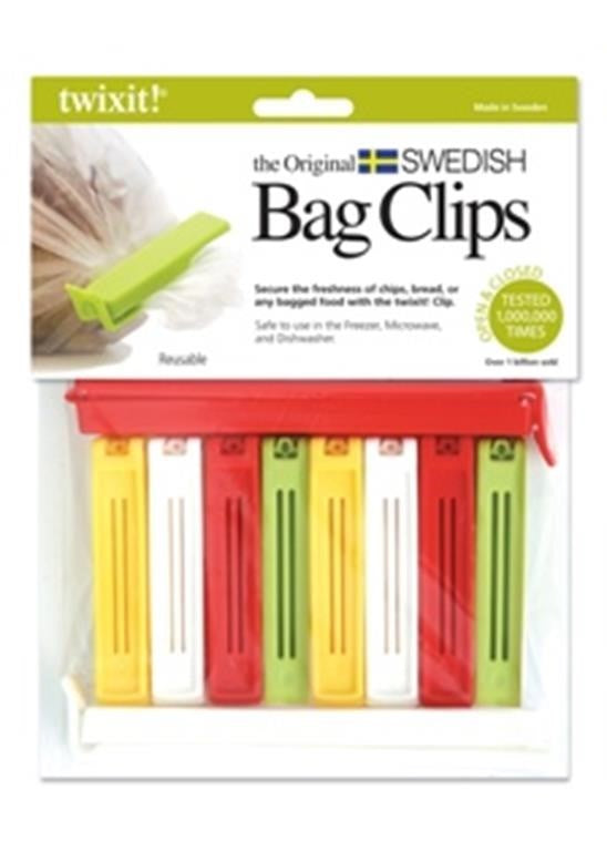 Twixit! The Original Swedish Bag Clips Set/10 (2 Super, 8 Medium)