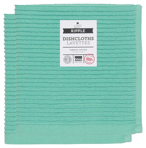 Now Designs Ripple Dishcloth Set/2 - Lucite Green