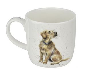 "Wrendale Mug 11oz Dog ""Devotion"" Golden Retriever"
