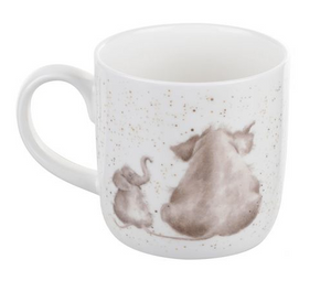 "Wrendale Mug 11oz Elephants ""Role Model"""