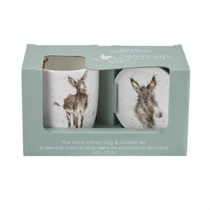 Wrendale Mug & Coaster Set, 'Gentle Jack'