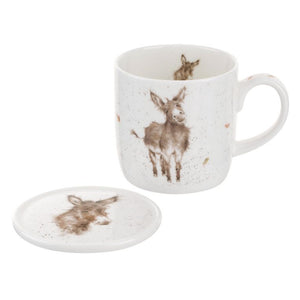 "Wrendale Mug & Coaster Set Donkey ""Gentle Jack"""