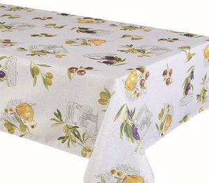 "Texstyles Deco Tablecloth 70"" Round - Primo Natural"