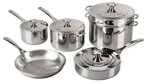 Le Creuset Cookware Set 10pc Stainless Steel