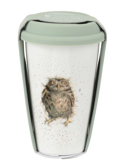"Wrendale Travel Mug - Owl ""What a Hoot"""