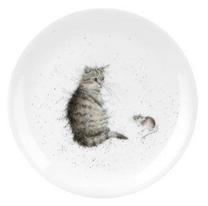 "Wrendale Plate 8"" Cat & Mouse"