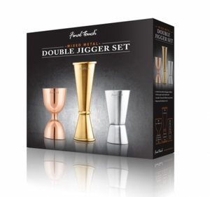 Final Touch Mixed Metal Double Jigger Set
