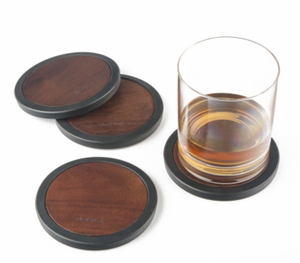 Final Touch Wood Coasters Set/4