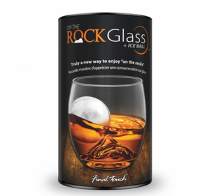 "Final Touch ""On The Rock"" DOF Glass with Ice Ball Mold"