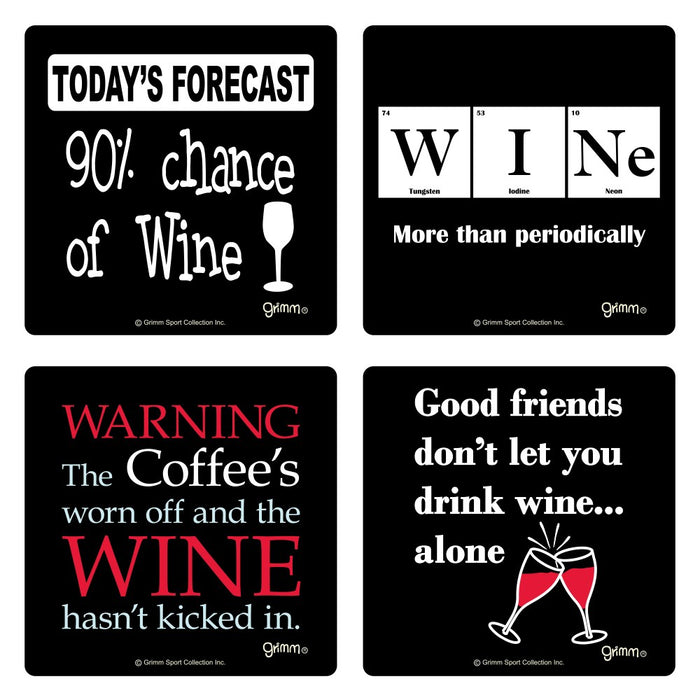 Grimm Coasters Set of 4 - Wine Set #5