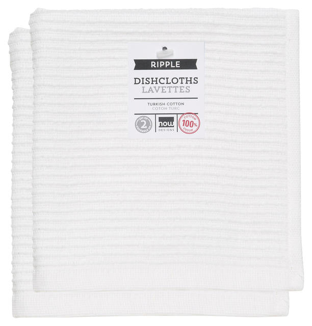 Now Designs Ripple Dishcloth Set/2 - White