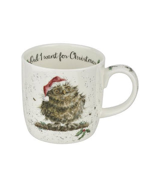 "Wrendale Mug 11oz - ""Owl I Want for Christmas"""