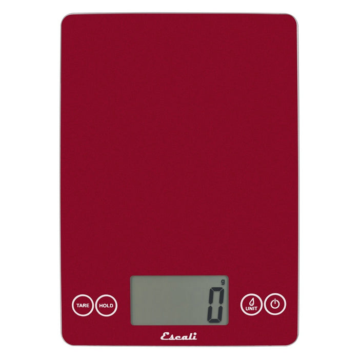 Escali Digital Kitchen Scale Arti Red Metallic
