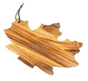 Ironwood Maple Leaf Shaped Cutting Board