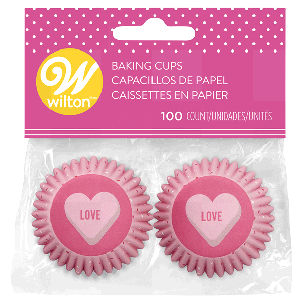 Wilton Mini Baking Cups/Cupcake Liners Valentine