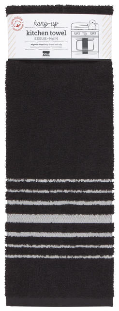 Tea Towel Hang-Up Black