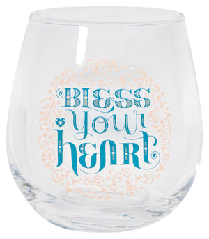 Now Designs Wine Glass, Bless Your Heart