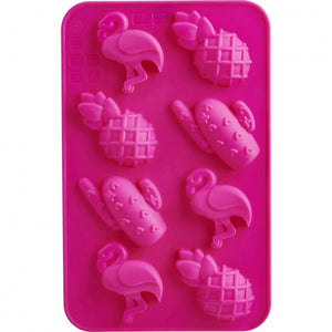 Trudeau Chocolate Mold Set/2 - Flamingo/Pineapple