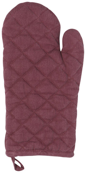 Now Designs Oven Mitt Heirloom Stonewash - Wine