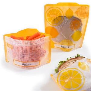 Russbe Reusable Snack & Sandwich Bags Set of 4, Lemons