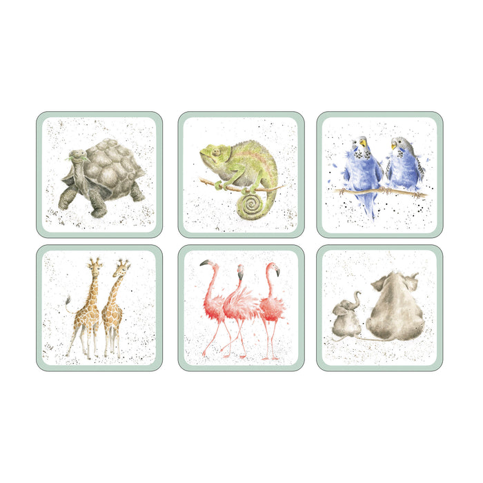 Pimpernel Wrendale Coasters Zoology Set of 6
