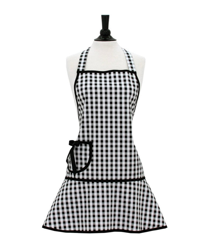 Jessie Steele Apron Adult Black & White Gingham