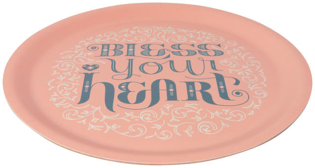 "Now Designs Round Tray 14.5"" - Bless Your Heart"