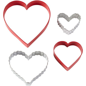 Wilton Cookie Cutter Set/4 Nesting Hearts