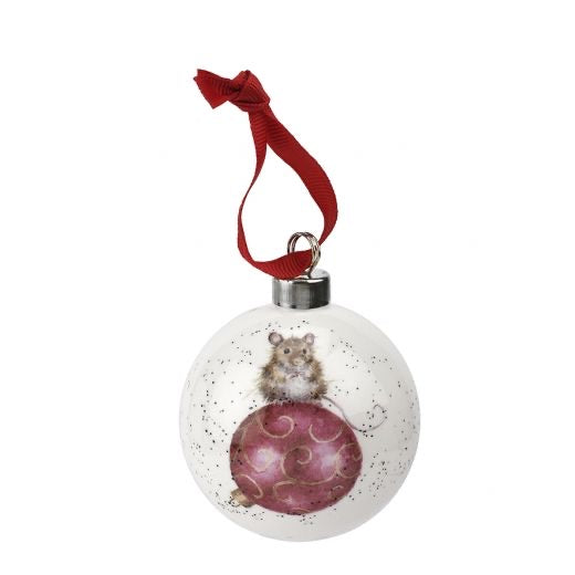 Wrendale 'Not a Creature was Stirring' Christmas Bauble Ornament
