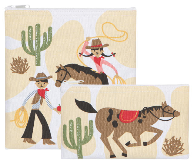 Now Designs Snack Bags Set/2 Rootin Tootin