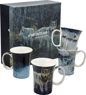 McIntosh Mug Set of 4, Bateman Wolves