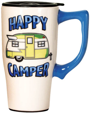 "Spoontiques Travel Mug ""Happy Camper"""