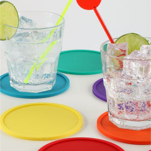 Kikkerland Rainbow Coasters 8pc Set